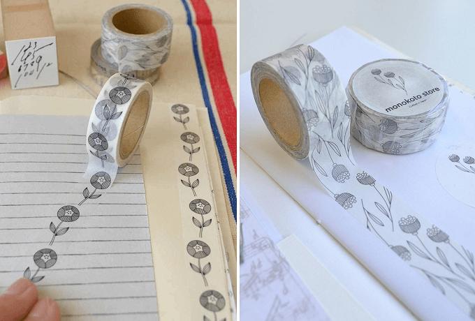手帳や手紙をほっこり彩る。日本の作家さんとコラボした「モノコトストア」のマスキングテープ