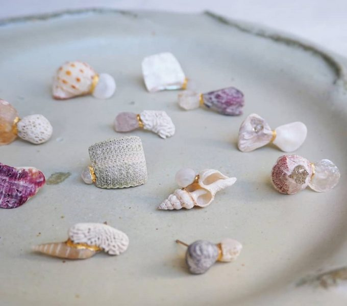 お守りのように身に着けたい。心にそっと寄り添う「雨氣」の貝殻アクセサリー