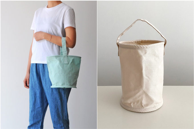 バケツモチーフがかわいい。ファッションにも収納にも使える「BAILAR」の帆布バッグ