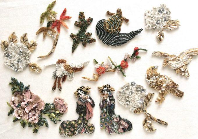 繊細かつ圧巻。鳥・花・美人画を表現した酒井佐和子さんのビーズ刺繍の世界