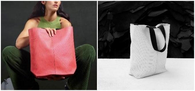 レザーサンプルを無駄なく使用。豊富なカラーと質感から選べる、「ECCO」のトートバッグ