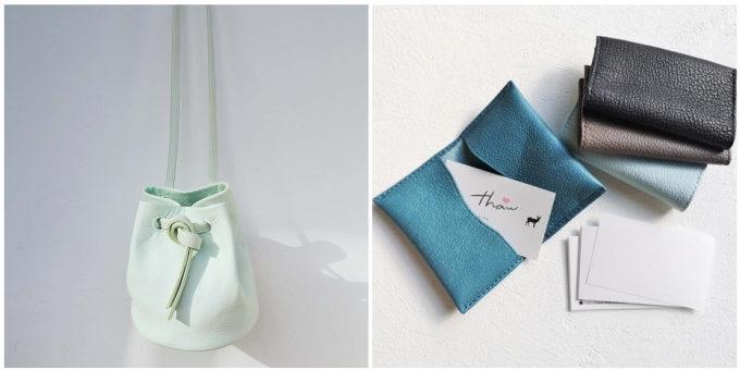 革の風合いを活かし、環境にやさしい方法で美しく染める。「thaw」の草木染めジビエレザー小物