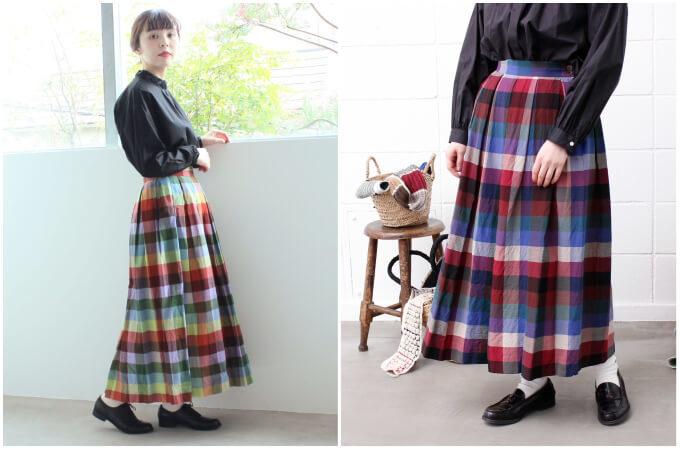 これからの季節に大活躍。「チェック柄スカート」を使った大人の着こなし術