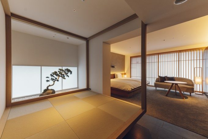 京都三条のホテル「nol kyoto sanjo」の客室スイートルーム