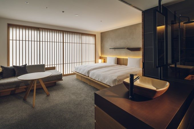 京都三条のホテル「nol kyoto sanjo」の客室