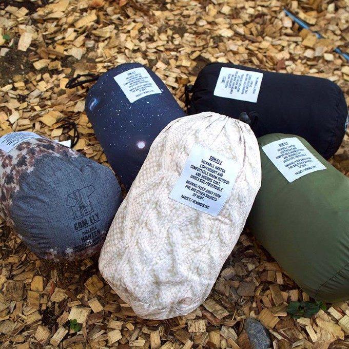 軽くて持ち運びに便利。パッカブル「はんてん」で冬キャンプもおしゃれに防寒