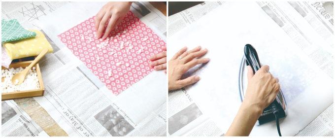 10分で自分の好きな形や大きさのエコラップが手作りできる「布でつくる みつろうラップ」