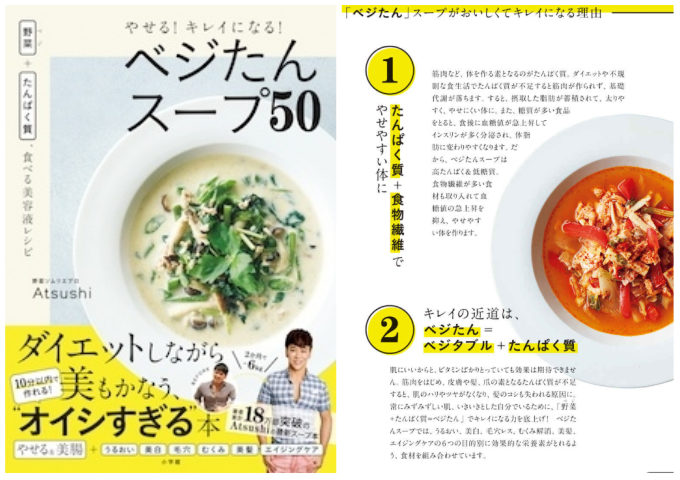 体重を落としながら肌も髪も美しく。「キレイに痩せる」が叶う、ダイエットスープのレシピ本