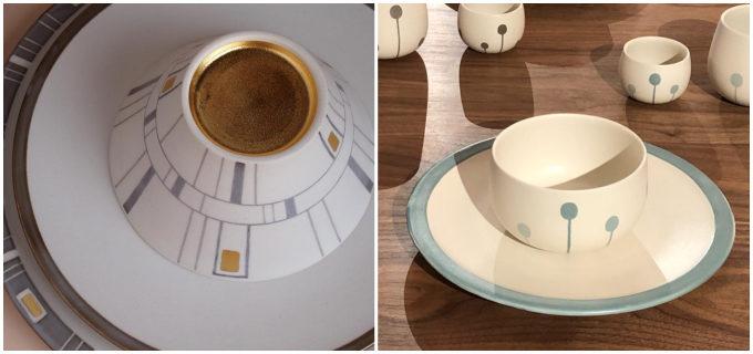 テーブルに旅の高揚感が。外国で出会った光景や建物を表現した、手塚美弥さんの蓋物の器