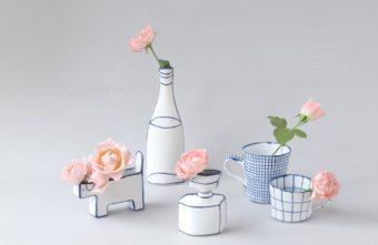 北欧の人気陶芸家、マリアンヌ・ハルバーグさんの花器が瀬戸焼になって登場