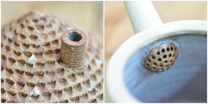 手にするたび心和むひとときが訪れる。「森の種陶工所」の家をモチーフにしたポット&カップ