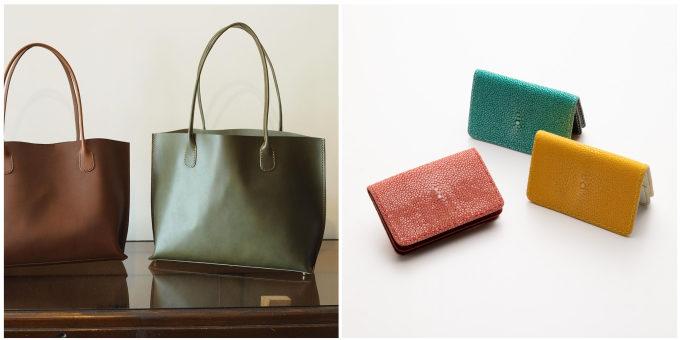 革や糸の色を選んで自分だけのものに。「革工房むくり」のかわいいがま口財布&小物
