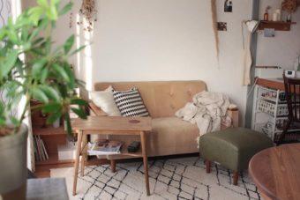 狭い一人暮らしワンルームのソファ配置アイデア。居心地のよいインテリア実例