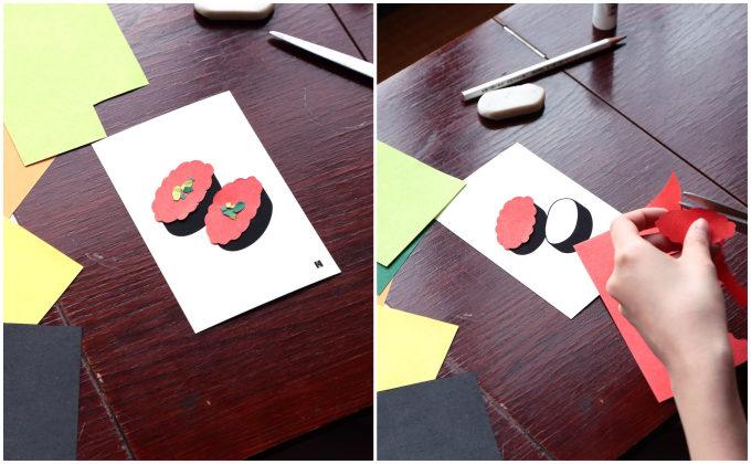 色鮮やかな和紙が織り成す。新年の挨拶にふさわしい縁起物が描かれた「はがき&ぽち袋」