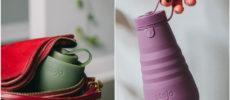 小さく折り畳めて持ち運びが楽。おしゃれにエコライフを楽しめるマイカップ「stojo」