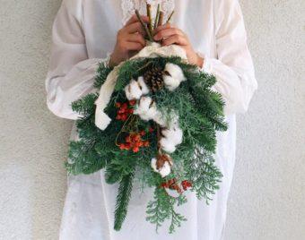クリスマスを待つ時間の楽しみに。作って飾れる「土と風の植物園」のスワッグキット