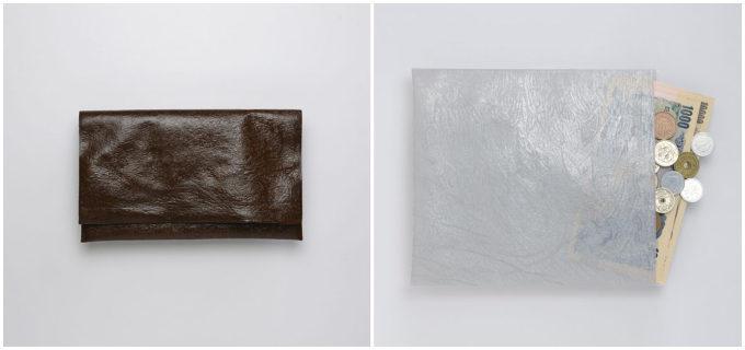ポリ袋から作られるとは驚き。質感やメタリックカラーとミニマルデザインが新鮮な「PE」の財布