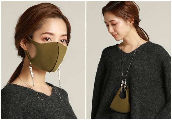マスクをしていても顔周りが華やかに。おしゃれさと便利さを兼ね備えたマスクネックレス