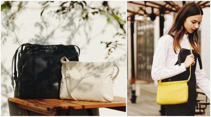 60年代風のレトロな雰囲気と明るいカラーが新鮮。「agnès b.」の春の新作レザーバッグ