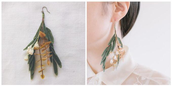 繊細で愛らしい草花に惹かれる。春の装いに加えたい刺繍作家「ayumi」の耳飾り