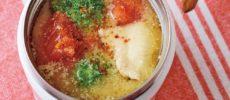 材料を1~3分煮てスープジャーに注ぐだけ。低カロリー&低糖質でヘルシーなスープレシピ