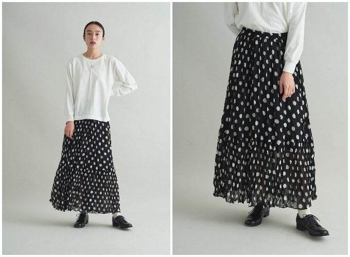 ふんわりシルエットが女性らしさを演出。軽やかな素材感が華やかな春スカート5選
