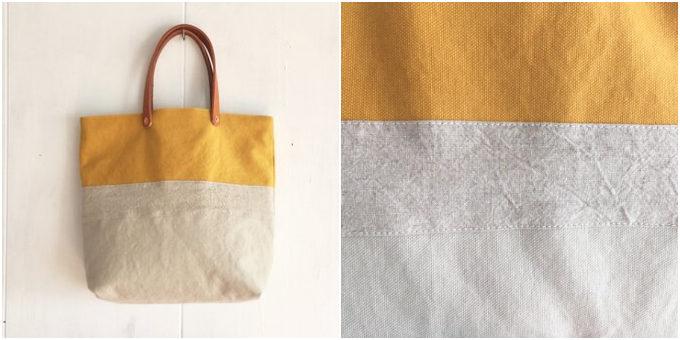 色の組み合わせや刺繍が楽しい。「青空鞄」が作る春色の帆布トートバッグ