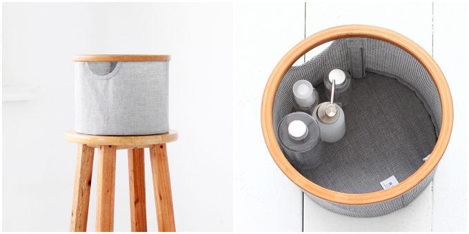 竹と布の組み合わせがおしゃれな収納ボックス。部屋に溶け込む「gudee」のインテリアアイテム