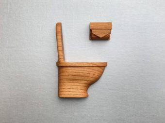 遊び心あふれるデザインに思わずクスッ。「kota-craft」の木製ルームマーク