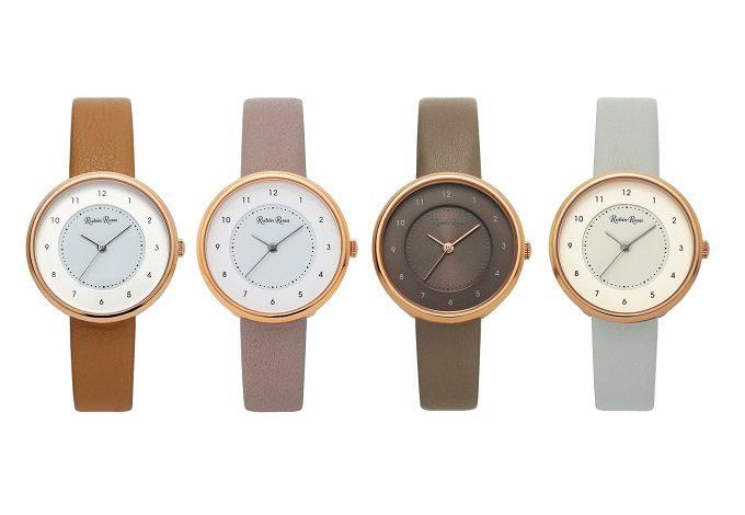 シーンを問わず使える。大きめな文字盤と上品なデザインに惹かれる「Rubin Rosa」の腕時計