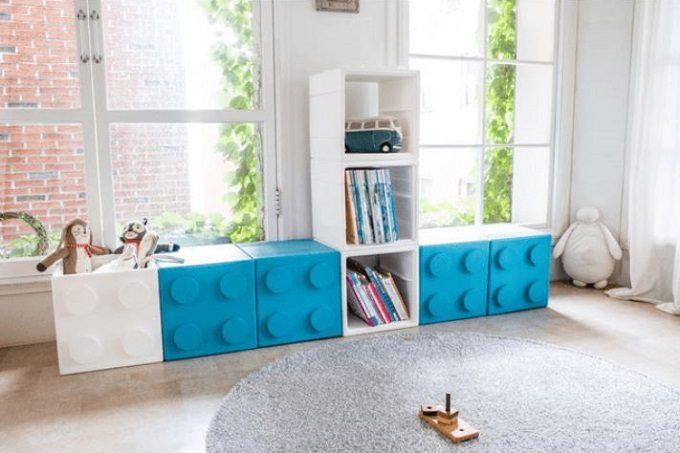 組み合わせて自分に合った収納棚が作れる。組み立て式のブロック型家具「キュビン」