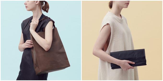 本革とは思えない薄さと軽さ。シーンによってバッグにもポーチにもなる「CORGA」の革小物