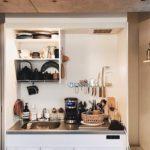 一人暮らしの狭いキッチンでもできる。スペースを確保し...