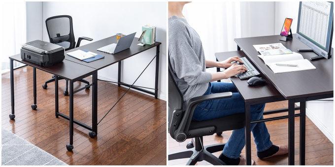 狭い部屋にも置けるコンパクトさ。仕事がはかどる便利な機能もついた優秀ワークデスク<3選>