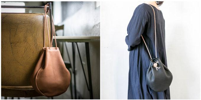 ヴィンテージのような風合いがおしゃれ。革の豊かな表情を活かした「+K」のバッグ