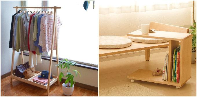 狭いスペースにも置けて拡張可能。木の温もりと機能性が魅力の「cosine」のスリムデスク