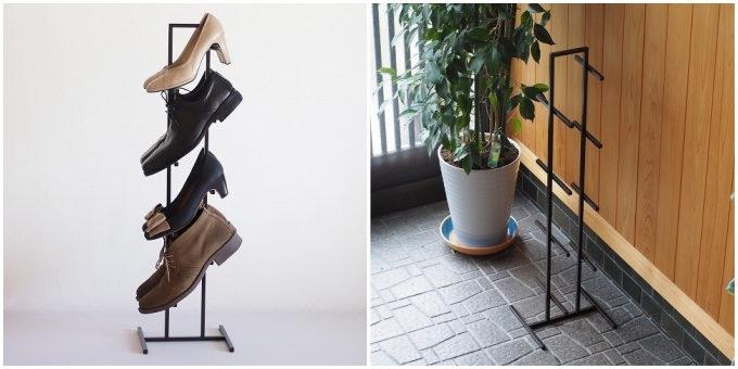 狭いスペースでも靴や傘をたっぷり&すっきり置ける。「rimessa works」のスリムな玄関収納