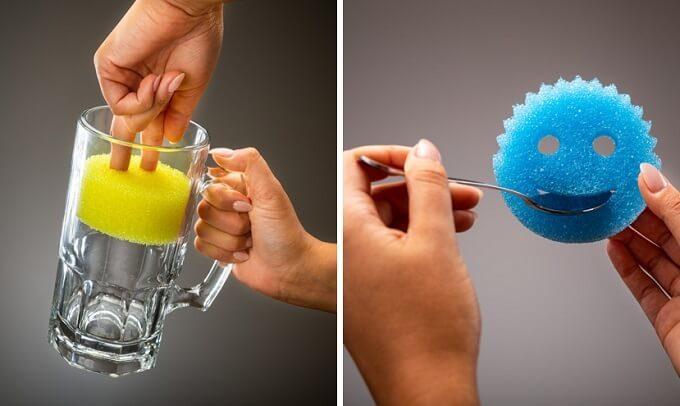 洗剤なしでも汚れが落ちる魔法のスポンジ。食器から油汚れにも使える「Scrub Daddy」