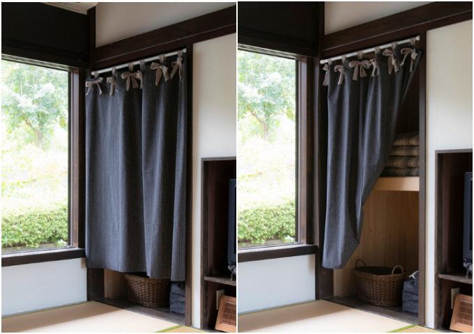 即実践できる!おしゃれなカーテン×突っ張り棒を使った目隠し&間仕切り例<10選>