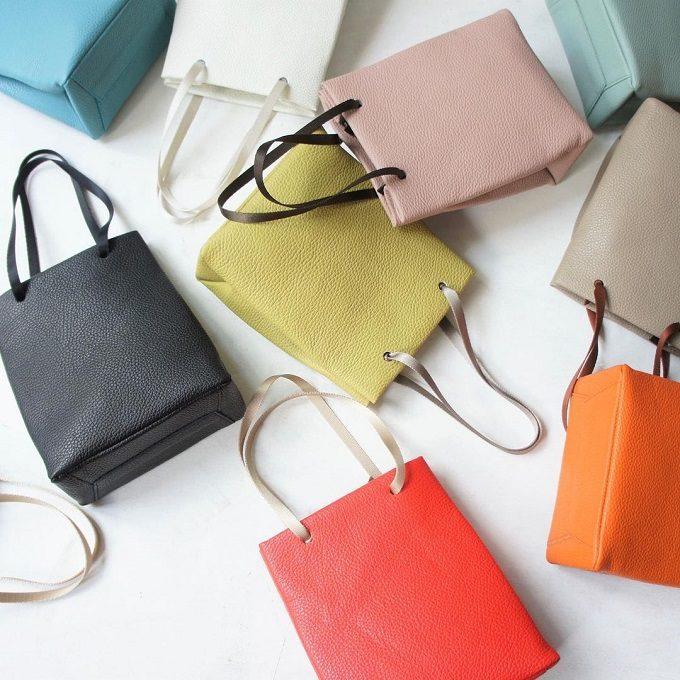 どの色がお気に入り?季節をイメージした12色から選ぶ「TIDEWAY」のレザーバッグ