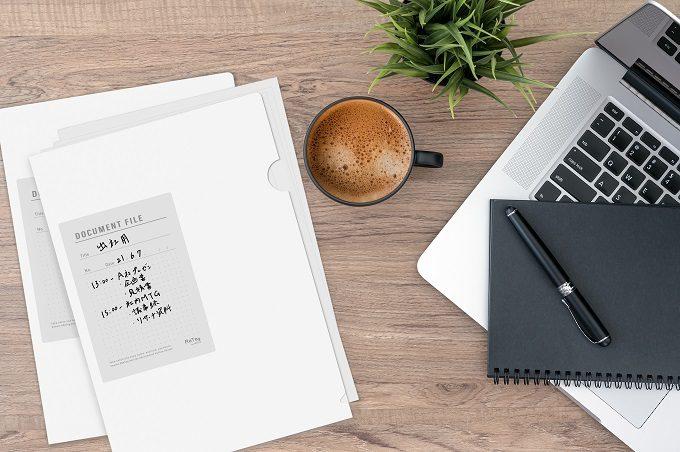 整理整頓にお役立ち。油性ペンで書いて消せるファイル&何度も貼って剥がせるラベルが便利!