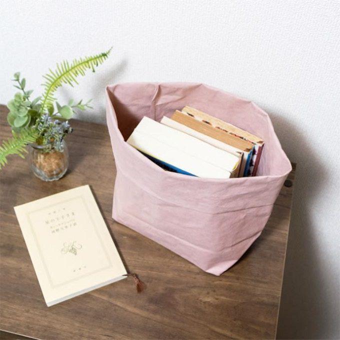 食材や日用品の収納、洗濯カゴ代わりにも。洗って何度も使える「UASHMAMA」ペーパーバッグ
