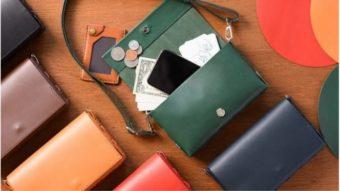 財布にもクラッチバッグにもなる。一つあれば万能な「革工房むくり」のお財布ポシェット
