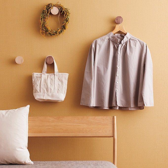ラックが置けない部屋でも活躍!壁に跡が残りにくい、おしゃれな「石膏ボード用フック」