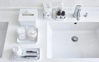 まるでホテルのよう。スッキリクリーンな白い洗面所を作る5つのコツ&おすすめアイテム集